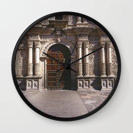Church of the Company Door, Arequipa, Peru Wall Clock