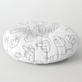 Middle Fingers Pattern 1 Floor Pillow