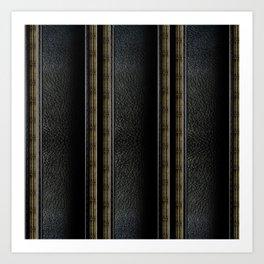 Leather Stripes by iamjohnlogan Art Print