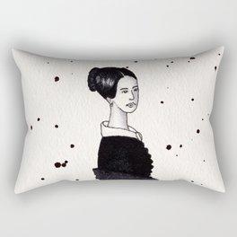 Lady in black Rectangular Pillow