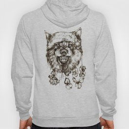 wolf and flowers Hoody