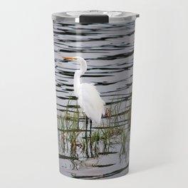 Egret Patiently Waiting Travel Mug