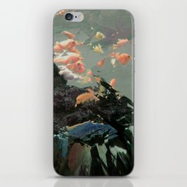 aquaglitch iPhone Skin