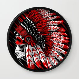 Skull Indian Wall Clock