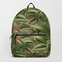Cordyline Princess Margaret Watercolor Green Pattern Backpack