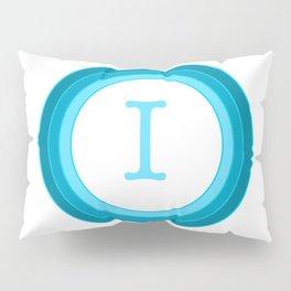 Blue letter I Pillow Sham
