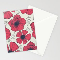 Raspberry Flowers Stationery Cards