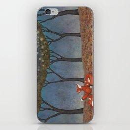 sleepy foxes iPhone Skin