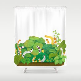 Garden eel Shower Curtain