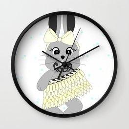 Miss Rapeti (lemon) Wall Clock
