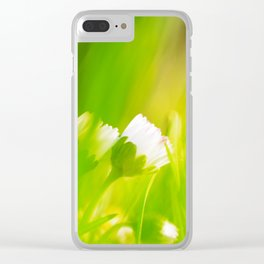 Daisy abstract wall Design Clear iPhone Case
