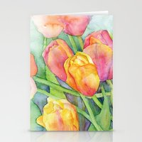 tulips Stationery Cards featuring Tulips by Susan Windsor