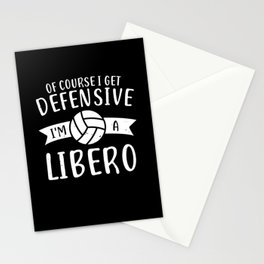 Volleyball Libero Player Design Stationery Cards
