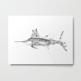 Fisherman Marlin Metal Print
