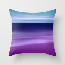 purple beach XI Throw Pillow