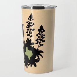 Texas - State Papercut Print Travel Mug