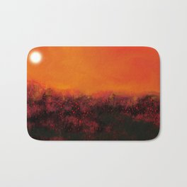 """The Burning Fields"" Digital Painting // Fine Art Print Bath Mat"