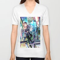 architect V-neck T-shirts featuring Heavens Architect by True Last Boss