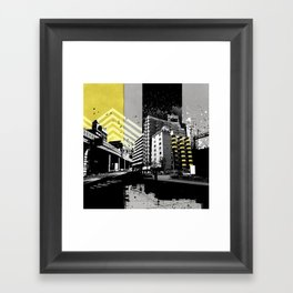 CMYK Triptych - Yellow Framed Art Print
