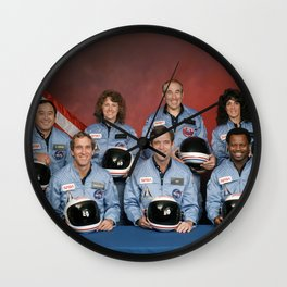 Space Shuttle Challenger Crew, November 1985 Wall Clock