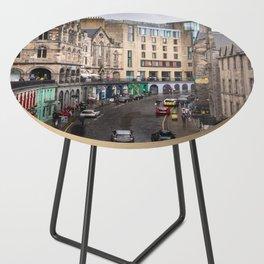 Victoria Street in Edinburgh, Scotland Side Table