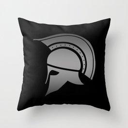 Ancient Greek Spartan Helmet Throw Pillow