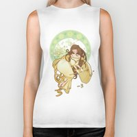 art nouveau Biker Tanks featuring Art nouveau by superkip