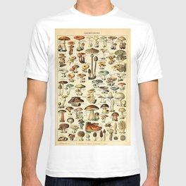 Adolphe Millot- Vintage Mushrooms Illustration T-shirt