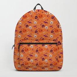 Purple Orange Halloween Pattern Backpack