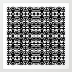 Saber Skulls (Smaller) Art Print