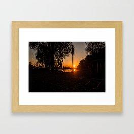 Lachine Cyclist Framed Art Print