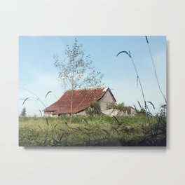 Barn Ruins - (Washington State) Metal Print