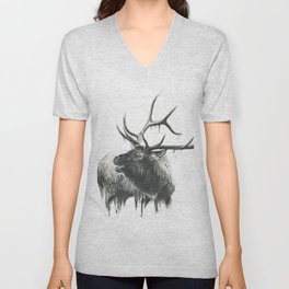Bugle of an Elk Unisex V-Neck