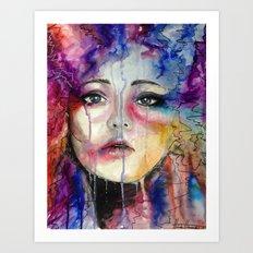 Colourful Tears Art Print