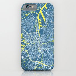 GHENT Map Belgium | Blue - More Colors, Review My Collections iPhone Case