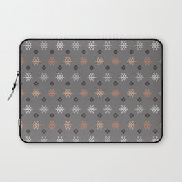 Boho Baby // Middle Eastern Metallic // Scorpion Symbol + Geometric Floral in Charcoal Laptop Sleeve