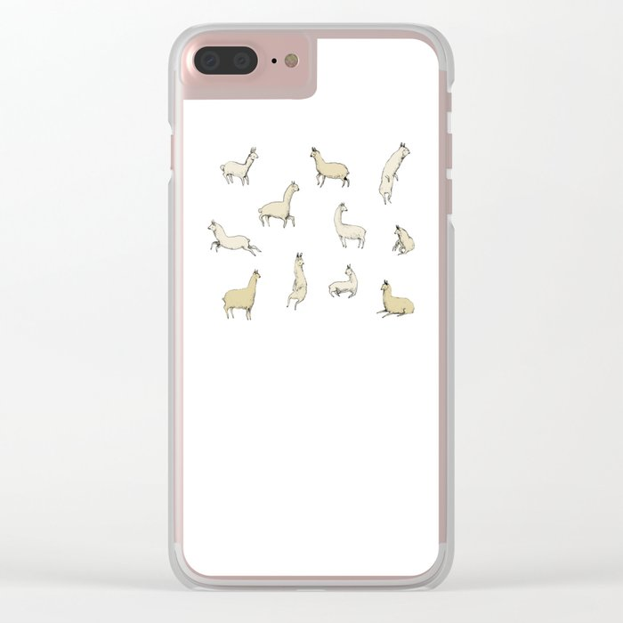 Llamas Clear iPhone Case