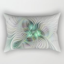 Fantasy Ways, Abstract Fractal Art Rectangular Pillow