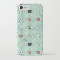 digimon iPhone & iPod Cases featuring Nade Nade by Kiriska