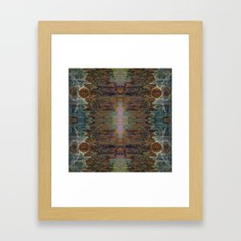Nebulous Portal Emergence (Electric Gateway) (Reflected) Framed Art Print