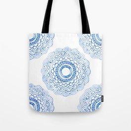 Baby Blue Mandala Tote Bag