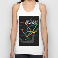 montreal Tank Tops featuring Montreal Metro by Coconuts & Shrimps
