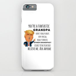 Funny Grandpa Birthday Best Gift iPhone Case