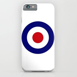 Red White And Blue Roundel iPhone Case