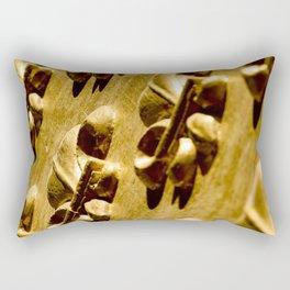 Parisian Gold Fluer De Lis Embossed Design Rectangular Pillow