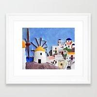 greek Framed Art Prints featuring Greek island by Brian Raggatt