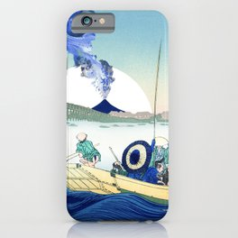 Hokusai View Of Mount Fuji Eruption and Sun iPhone Case