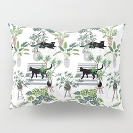 cats in the interior pattern Pillow Sham