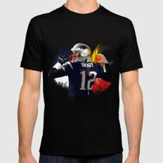 Tom Brady Black Mens Fitted Tee LARGE