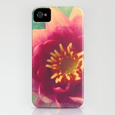 Pink Water Lily Slim Case iPhone (4, 4s)